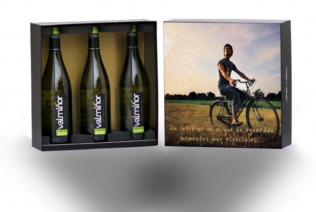 Caja estuche especial vinos Valmiñor