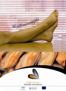 Cartel-piernas-relajadas-sensación-saborear-mejillón