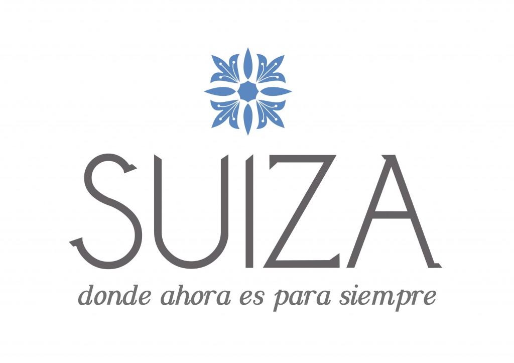 Logotipo-Suiza-flor-edelweiss-lema-dondeahoraesparasiempre