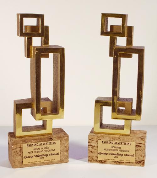 Luxury Advertising Awards Dos premios Anónimo Advertising Marbella Lujo Publicidad