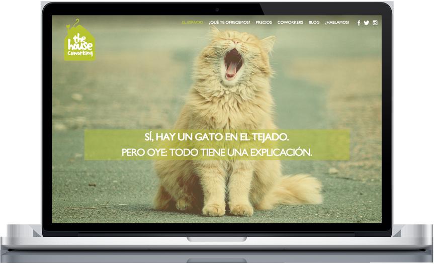 Web the house coworking diseño programación agencia Vigo