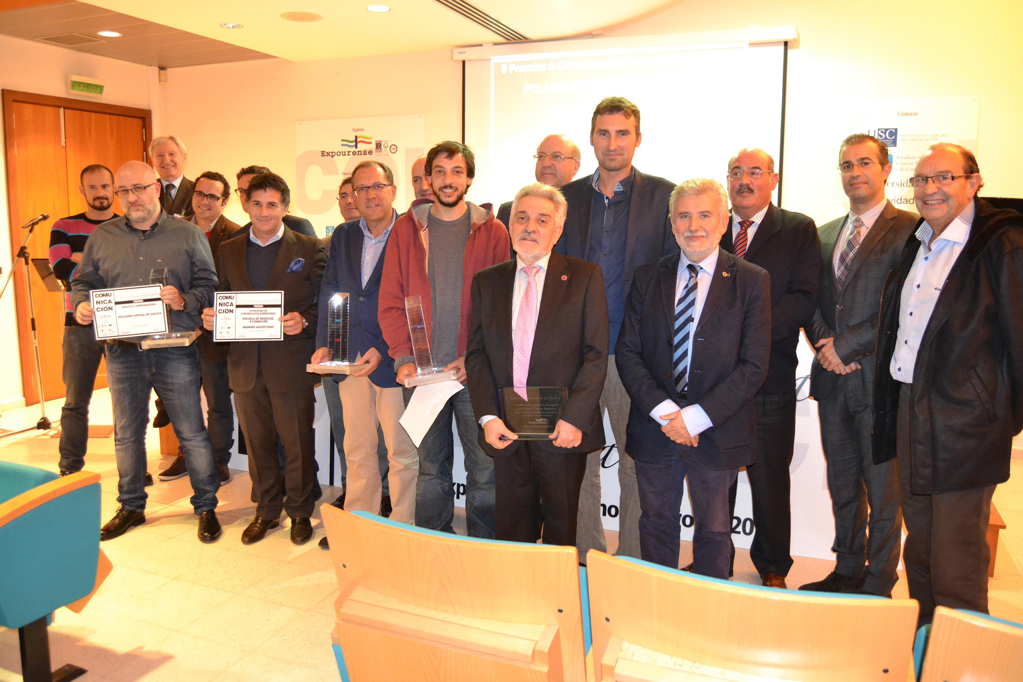 Premio de Comunicación de Galicia en II Foro de la Comunicación de Expourense 2014 Escuela de Negocios Afundación Anónimo Advertising