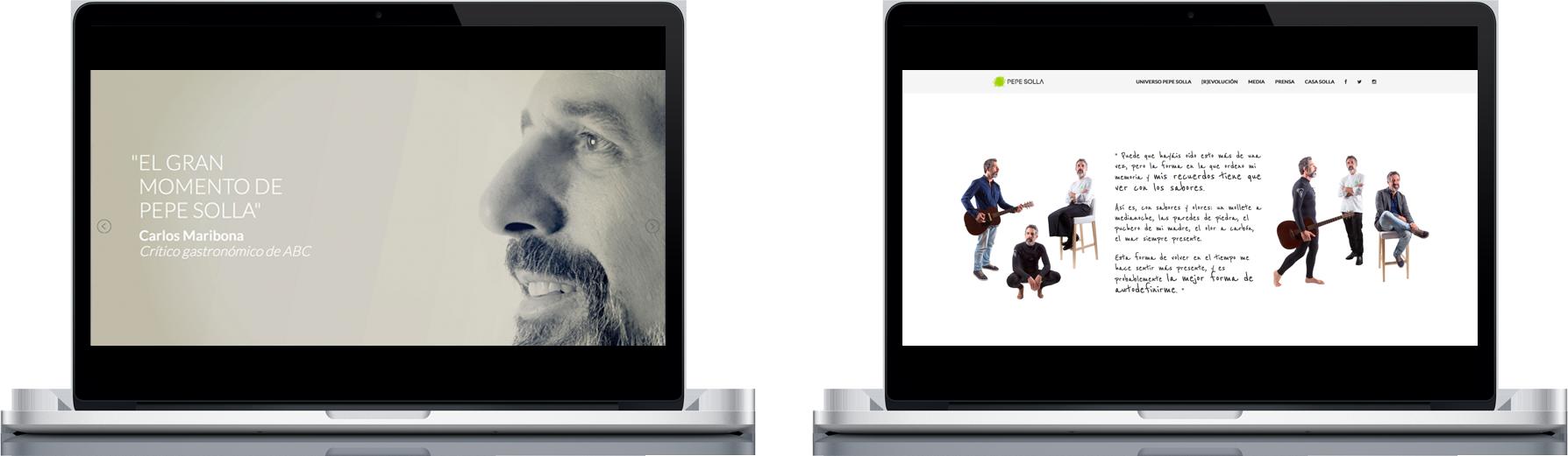 Web de Pepe Solla, diseñada y programada por Anónimo Advertising