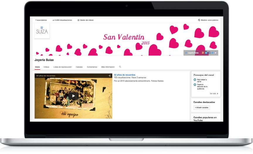 Youtube redes sociales Joyería Suiza