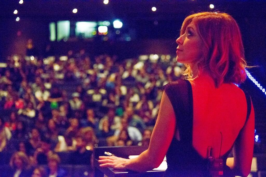 Eva Isanta, presentadora de la gala