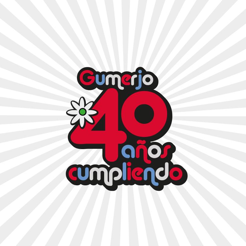 Logotipo aniversario 40 años de Gumerjo